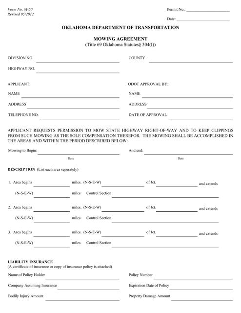 Form M-50  Printable Pdf