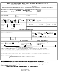 "NJDMAVA Form 24P ""Eligibility for Interment at William C. Doyle Veteran's Cemetery"" - New Jersey"