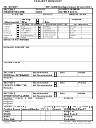 "NJDMAVA Form 104 ""Project Request"" - New Jersey"
