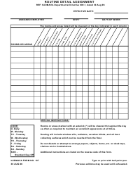 "NJDMAVA Form 107 ""Routine Detail Assignment"" - New Jersey"