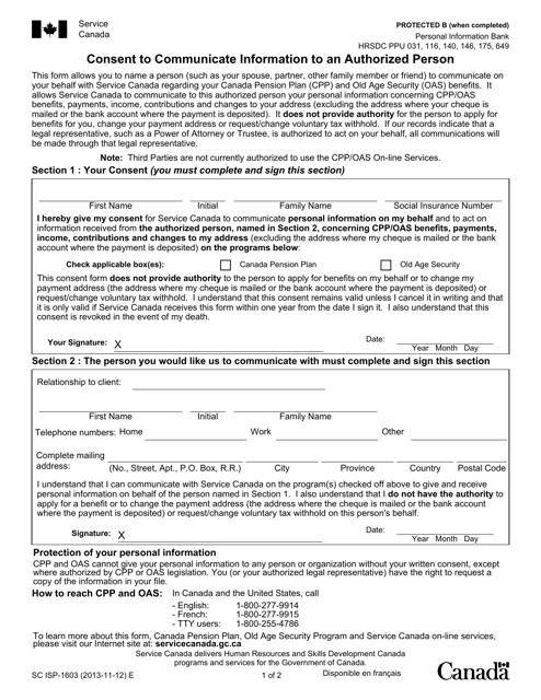 Form SC ISP-1603 Printable Pdf