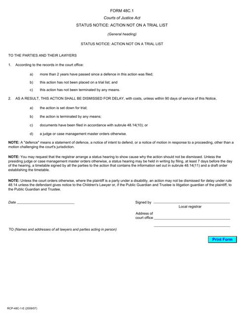 Form 48C.1 Printable Pdf