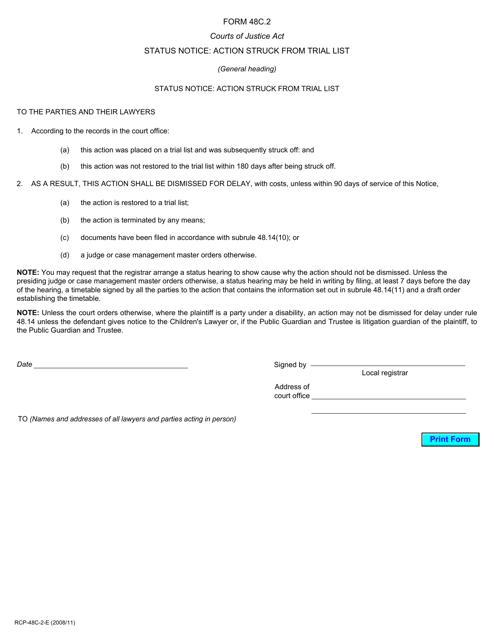 Form 48C.2 Printable Pdf