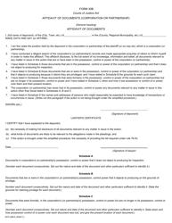 "Form 30B ""Affidavit of Documents"" - Ontario, Canada"