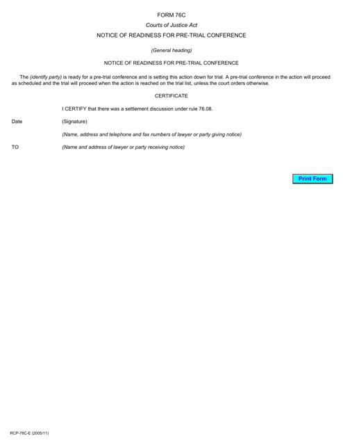 Form 76C Printable Pdf