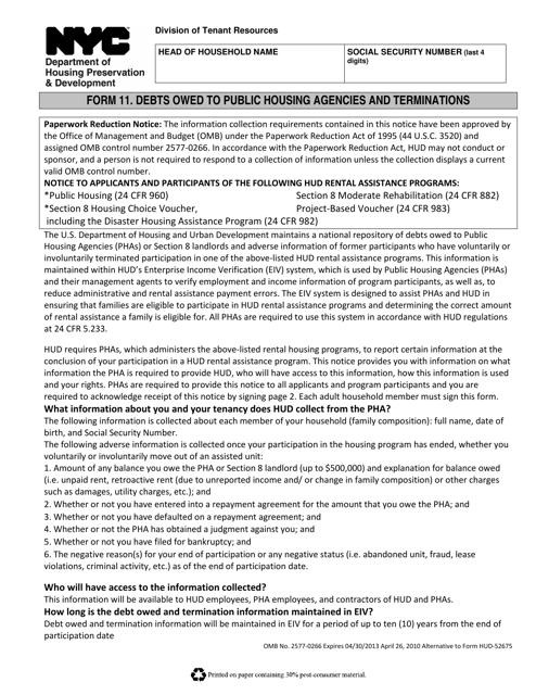 Form 11  Printable Pdf