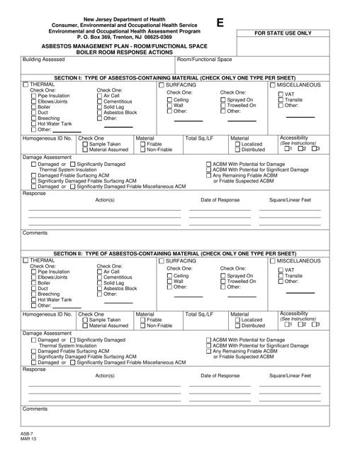 Form E (ASB-7)  Printable Pdf