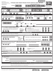 """Form CDC52.5 """"Typhoid and Paratyphoid Fever Surveillance Report"""""""