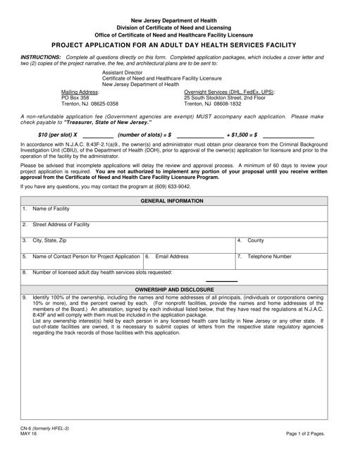 Form CN-6  Printable Pdf