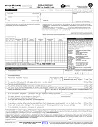 "Form M445D(PSP) ""Claim Form for Public Service Dental Care Plan (Psdcp)"" - Canada"