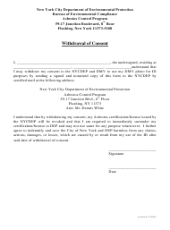 """""""Withdrawal of Consent"""" - New York City"""