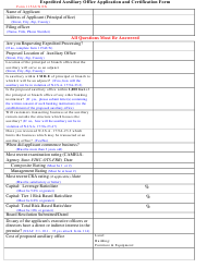 "Form 115AUX EX ""Expedited Auxiliary Office Application and Certification Form"" - New Jersey"