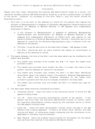 "Instructions for Form NIA-1 ""Notice of Intent to Appeal an Adverse Um Determination - Stage 1"" - New Jersey"