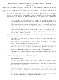 "Instructions for Form NIA-3 ""Notice of Intent to Appeal an Adverse Um Determination - Stage 3"" - New Jersey"