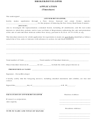 """Timeshare Broker/Developer Application/Affidavit"" - New Jersey"