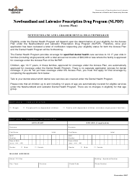 """""""Dental Application Form"""" - Newfoundland and Labrador, Canada"""