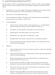 """Instructions for Form INV-N2, INV-V1, INV-N1 """"Annual Nox/VOC/So2 Emission Statement Form"""" - New Hampshire"""