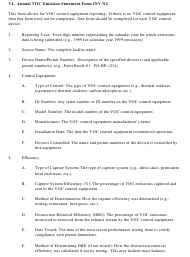 """Instructions for Form INV-N2, INV-N1 """"Annual VOC Emission Statement Form"""" - New Hampshire"""