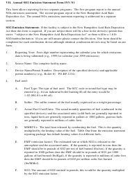 """Instructions for Form INV-N1 """"Annual So2 Emissions Statement Form"""" - New Hampshire"""