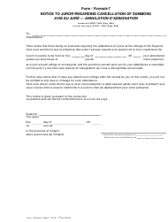 "Form 7 ""Notice to Juror Regarding Cancellation of Summons"" - Ontario, Canada (English/French)"