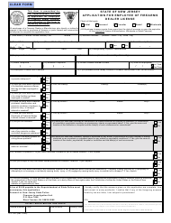 """Form S.P.641 """"Application for Employee of Firearms Dealer License"""" - New Jersey"""