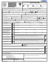 """Form S.P.649 """"Application for Retail Firearms Dealer's License"""" - New Jersey"""