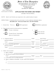 "Form DSSS41 ""Application for Swim Line Permit"" - New Hampshire"