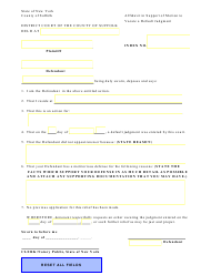 """""""Affidavit in Support of Motion to Vacate a Default Judgment by Defendant (Civil Cases)"""" - Suffolk County, New York"""