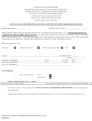 """Application for Individual Home Care Service Provider Registration"" - New Hampshire"