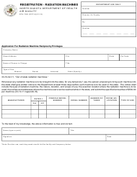"Form SFN7590 (RCP-5) ""Registration - Radiation Machines"" - North Dakota"