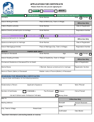 """Application for Certificate"" - Nunavut, Canada"
