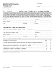 "Form DOS-1423 ""Local Code Enforcement Complaint Form"" - New York"