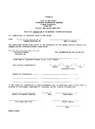 "Form B ""Notice of Termination of Reinsurance Intermediary Manager"" - New Jersey"