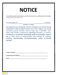 """Notice - Contractor EEO Policy Statement"" - New Mexico"