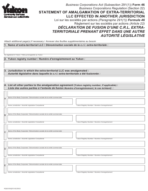 Form 46 (YG6155) Printable Pdf