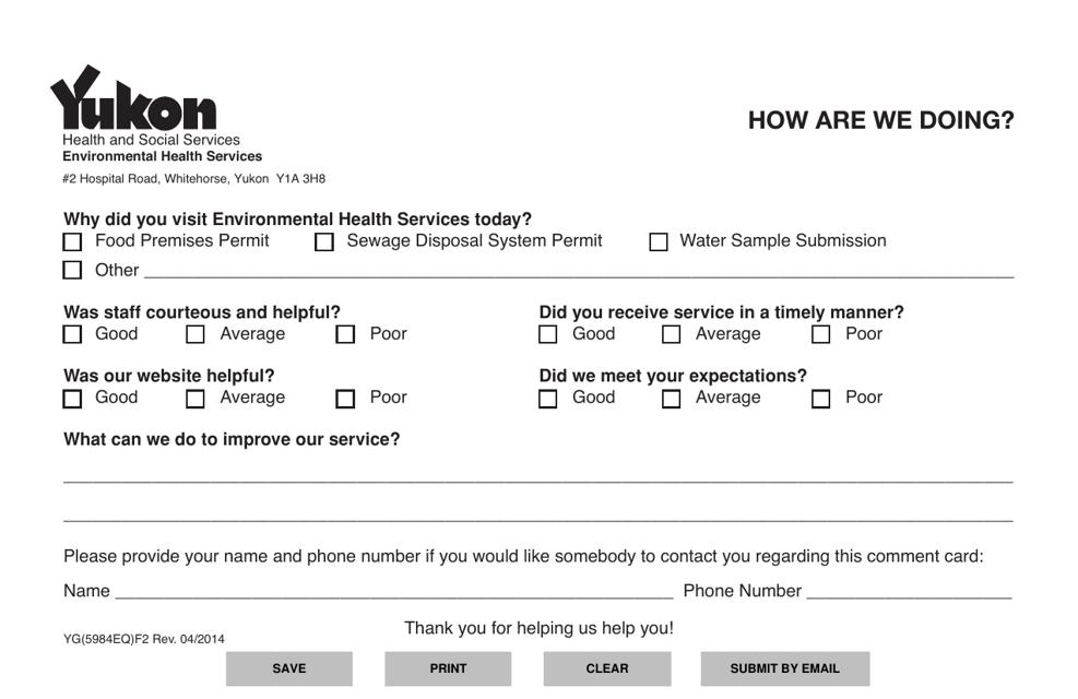Form YG5984 Printable Pdf