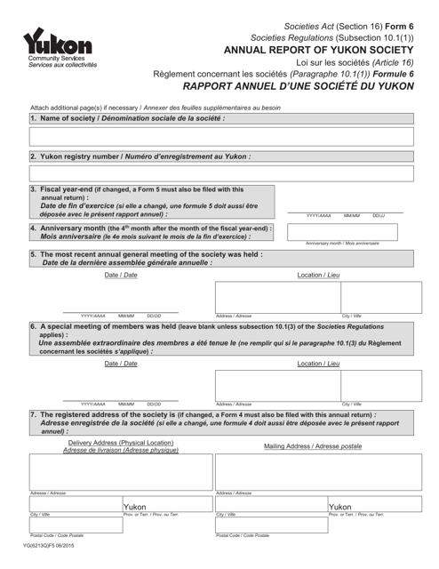 Form 6 (YG6213) Printable Pdf