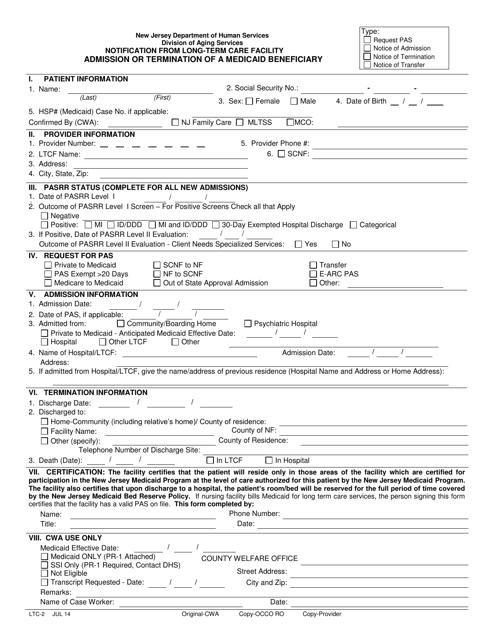Form LTC-2  Printable Pdf
