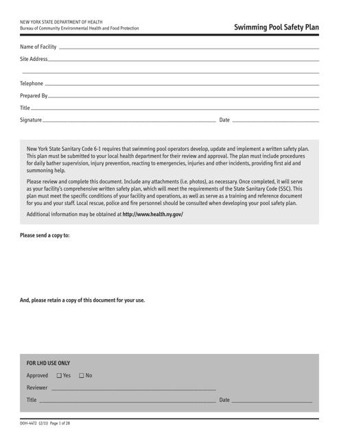Form DOH-4472  Printable Pdf
