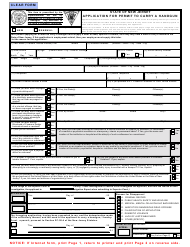 """Form S.P.642 """"Application for Permit to Carry a Handgun"""" - New Jersey"""