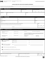 """Form TBS325-10 """"Application for Leave With Income Averaging"""" - Canada"""