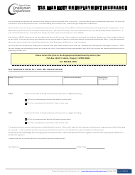 "Form 1040WH ""Tax Liability Unemployment Insurance"" - Oregon"