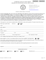 """Form CN:11396 """"Application for a Waiver"""" - New Jersey"""