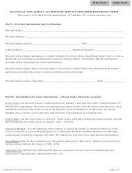 """Form 11446 Part 1 """"BI-Annual Reporting Form"""" - New Jersey"""