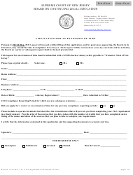 """Form CN:11395 """"Application for an Extension of Time"""" - New Jersey"""