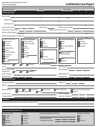 "Form DOH-389 ""Confidential Case Report"" - New York"