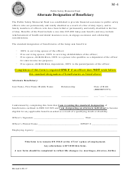 "Form M-4 ""Alternate Designation of Beneficiary"" - Oregon"