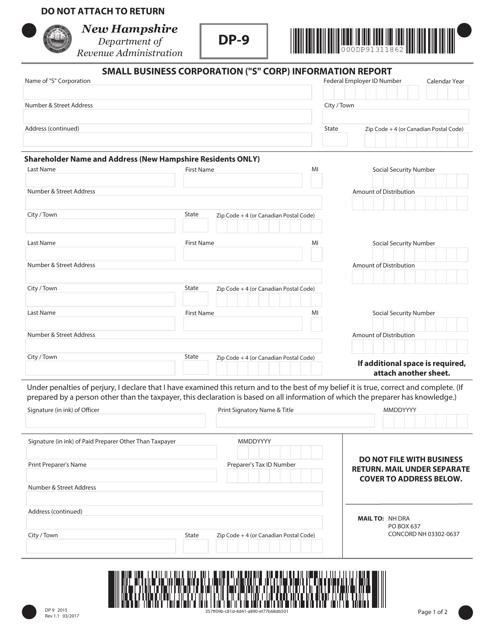 Form DP-9  Printable Pdf