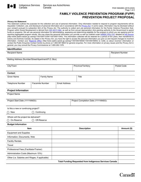 Form PAW5664860 2020 Printable Pdf