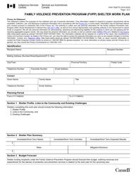 "Form PAW7638775 ""Family Violence Prevention Program (Fvpp) Shelter Work Plan"" - Canada, 2020"